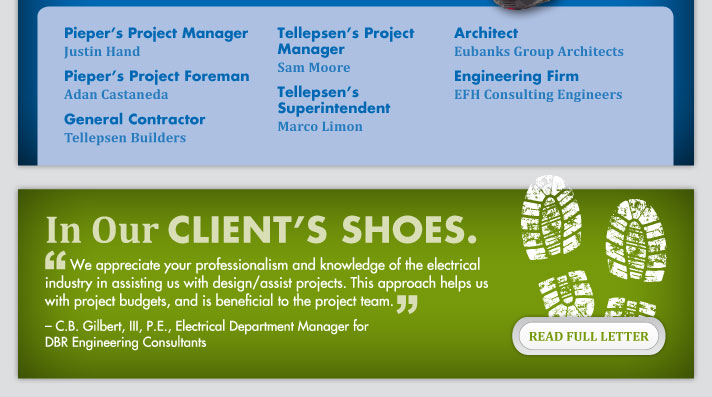 In Our Client's Shoes.