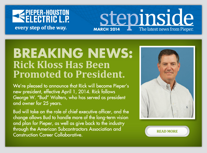 Rick Kloss Has Been Promoted to President.