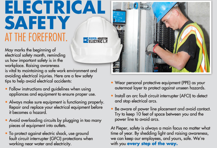 Electrical Safety at the Forefront.