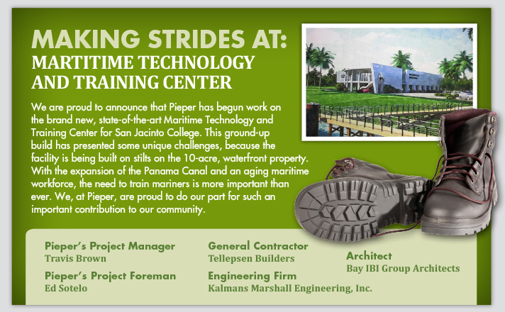 Making Strides at: Martitime Technology and Training Center
