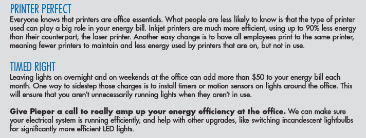Amp up your energy efficiency at the office.