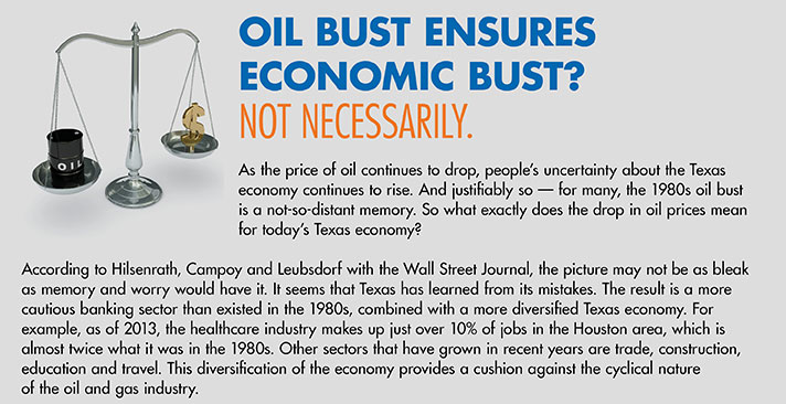 Oil Bust Ensures Economic Bust? Not Necessarily.