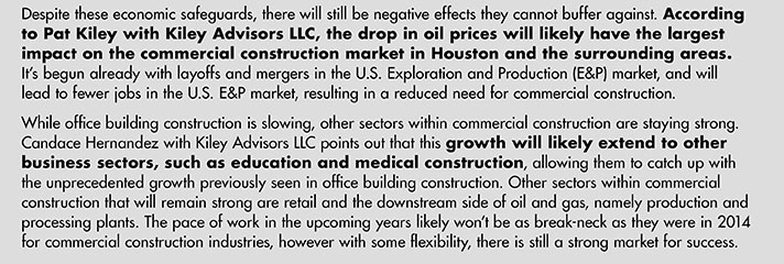 Growth will likely extend to other business sectors, such as education and medical construction.