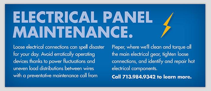 Electrical Panel Maintenance.