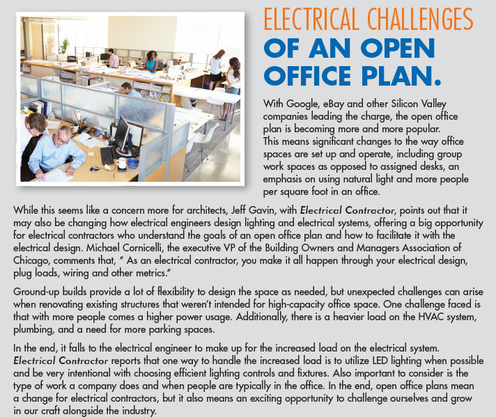 Electrical Challenges of an Open Office Plan