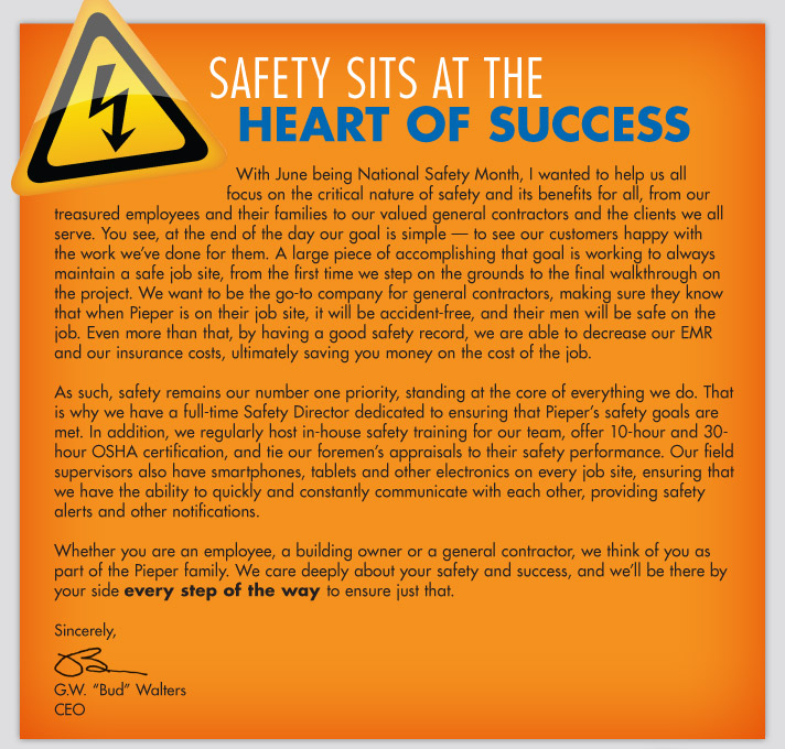Safety Sits at the Heart of Success