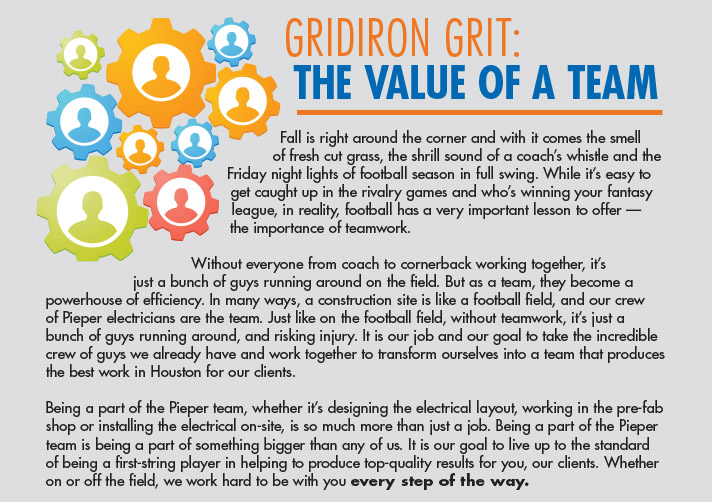 Gridiron Grit: The Value of a Team