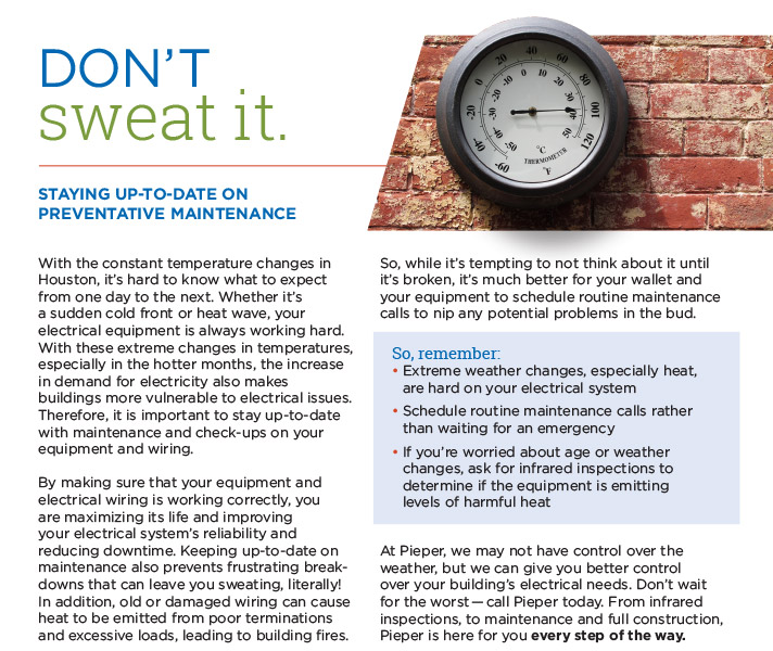 Preventative Maintenance is Important for Your Business