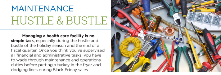 Hustle and bustle of electrical maintenance.